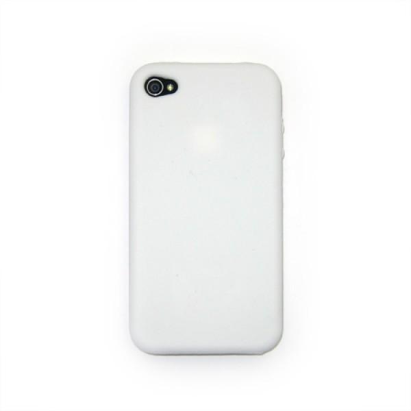 Siliconen Hoes Wit iPhone 4 en 4S