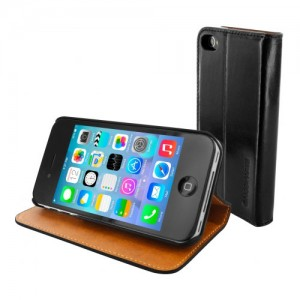 Mobiparts Luxury Book Case Black iPhone 4/4S