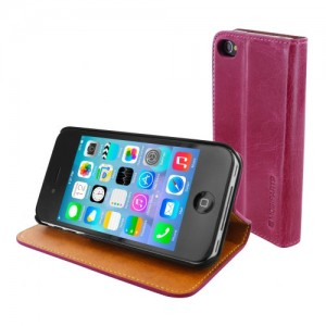 Mobiparts Luxury Book Case Pink iPhone 4/4S