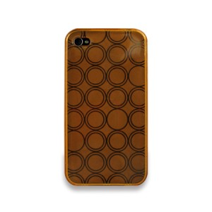 Rounded softcase Oranje iPhone 4 en 4S