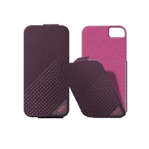 X-Doria Dash Flippercase paars roze iPhone 5 en 5S