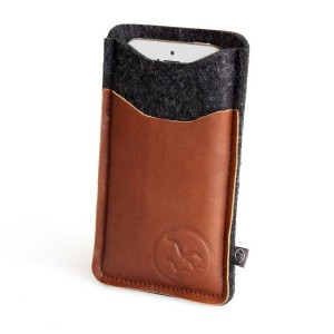 Waterkant Leather and Woolfelt Brown iPhone 6