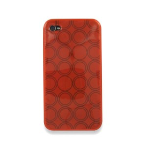 Rounded softcase Rood iPhone 4 en 4S