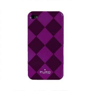 Puro rhomby cover paars iPhone 4 en 4S