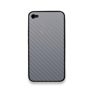 Carbon Full Body Skin Zilver iPhone 4 en 4S