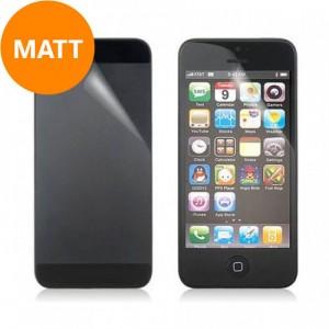 Screen- en backprotector Mat iPhone 5 en 5S