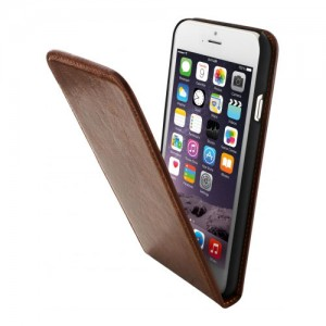 B-Stock* Mobiparts Luxury Flip Case Brown iPhone 4/4S