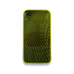 Wave Softcase Geel iPhone 4 en 4S