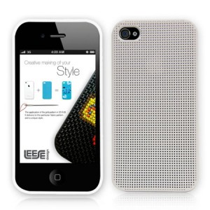 Leese Design Cross-Stitch Wit iPhone 4 en 4S
