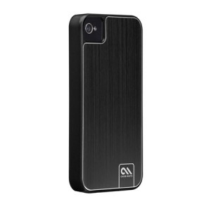 Case-Mate Barely There Aluminum Black iPhone 4 en 4S