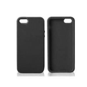 Siliconen Hoes Zwart iPhone 5 en 5S