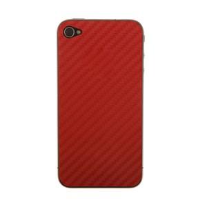 Carbon Full Body Skin Rood iPhone 4 en 4S