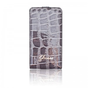 Guess Flip Case Crocodile Dark Grey iPhone 4 en 4S