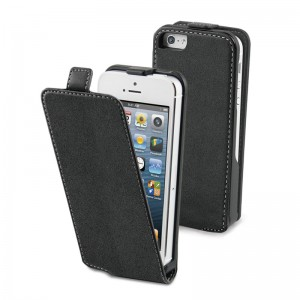 Muvit Slim Flippercase Black iPhone 5C