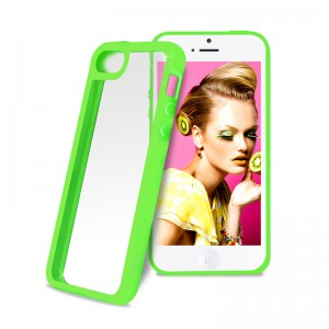 Puro Clear Cover Green iPhone 5C