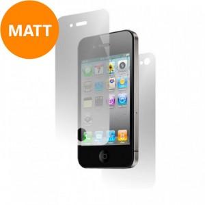 Screen- en backprotector Mat voor iPhone 4/4S
