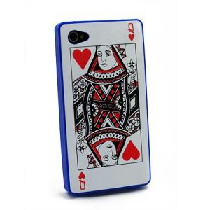 Card Case blauw iPhone 4 en 4S