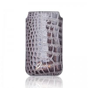 Guess Pouch Crocodile Dark Grey iPhone 4 en 4S