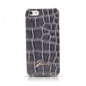 Guess Back Case Crocodile Dark Grey iPhone 5 en 5S