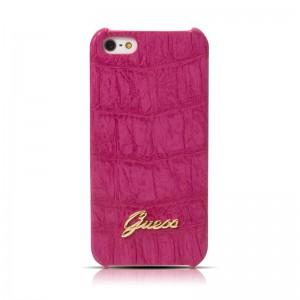 Guess Back Case Crocodile Pink Matte iPhone 5 en 5S
