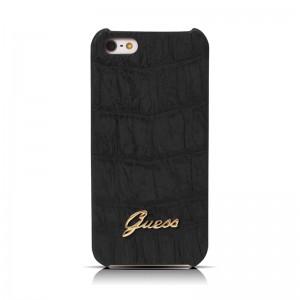 Guess Back Case Crocodile Black Matte iPhone 5 en 5S