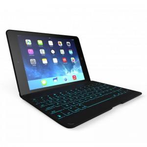 ZAGG ZAGGkeys Folio Backlit Bluetooth Keyboard Case Black iPad Air