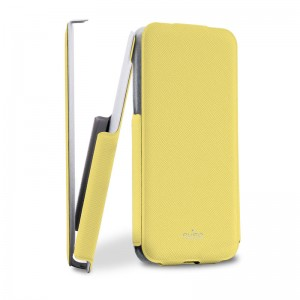 Puro Flipper Case Yellow iPhone 5C