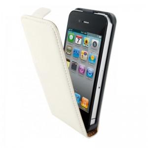 Mobiparts Premium Flip Case White iPhone 4/4S