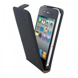 Mobiparts Premium Flip Case Black iPhone 4/4S