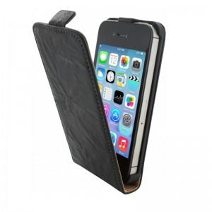 Mobiparts Vintage Flip Case Black iPhone 4/4S