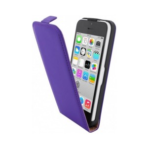 Mobiparts Premium Flip Case Purple iPhone 5C