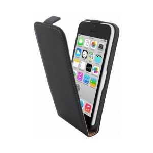 Mobiparts Premium Flip Case Black iPhone 5C