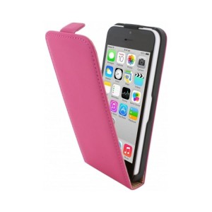 Mobiparts Premium Flip Case Pink iPhone 5C