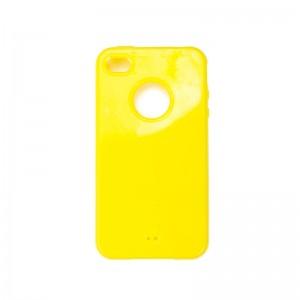 Silicon Logo Case Yellow iPhone 4 en 4S