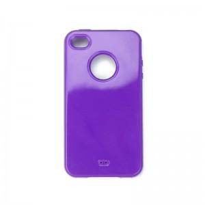 Silicon Logo Case Purple iPhone 4 en 4S