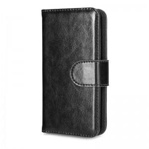 Xqisit Wallet Hardcover Black iPhone 5 en 5S