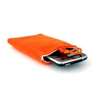 Fleece tasje oranje