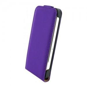 Mobiparts Premium Flip Case Purple iPhone 6